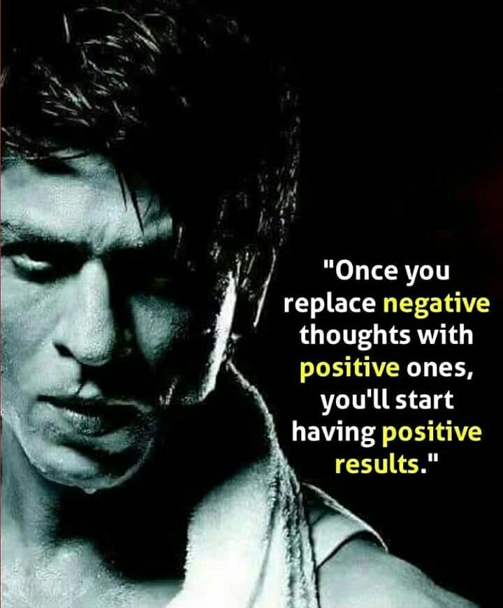 """ONCE YOU REPLACE NEGATIVE THOUGHTS WITH POSITIVE ONES…"" SRK [OC] [720 x 870]"