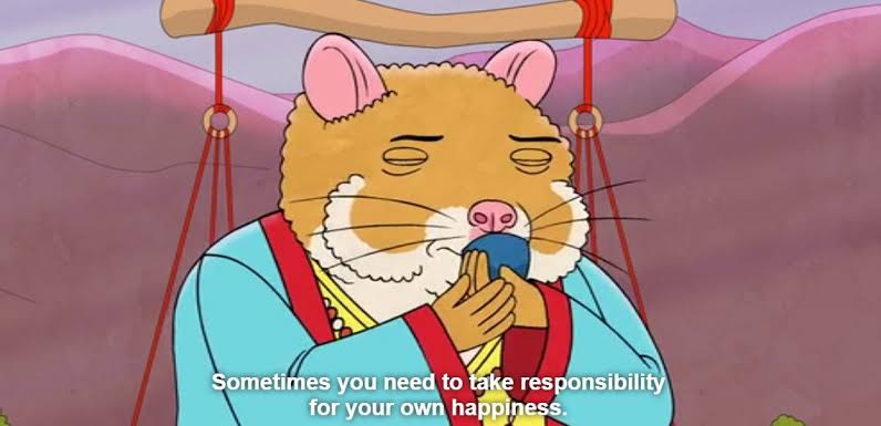 "[Image] ""it takes a long time to realise how trully miserable you are, and even longer to realise it doesn't have to be that way""- cuddlywhiskers (bojack horseman, netflix)"