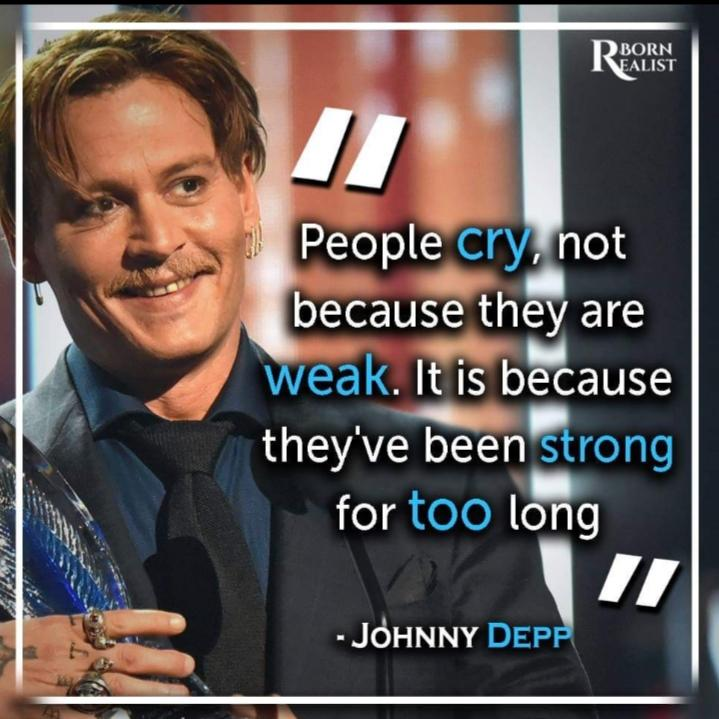 """Strong for too long"" – Jhonny Depp [719×719]"