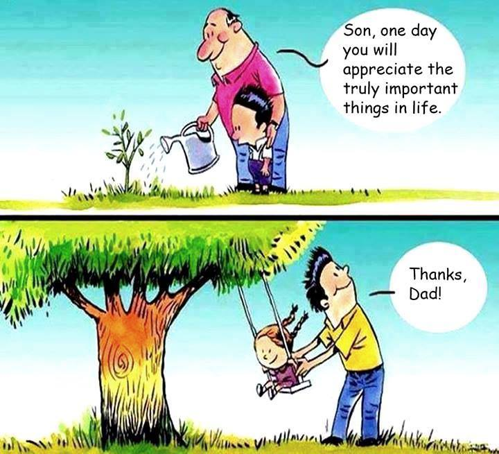 [IMAGE] APPRECIATE TRULY IMPORTANT THINGS IN LIFE