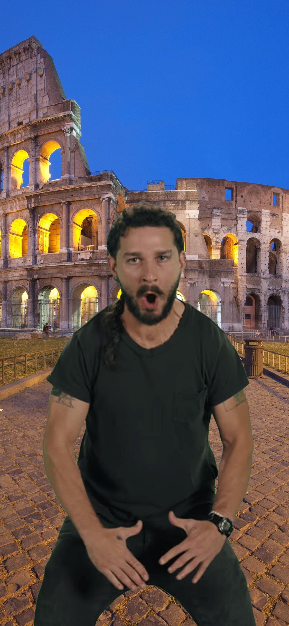 [Image] My wife and I are going to Rome in a few months and I'm trying to lose some weight before. I made myself a wallpaper for my phone to keep me on track.