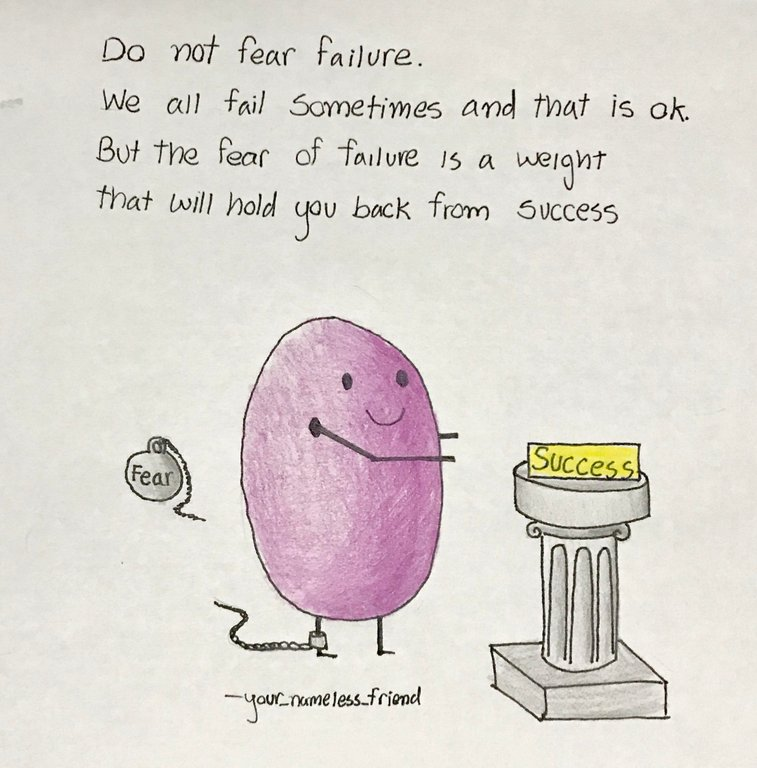 [Image] Fear of failure is a weight that will hold you back from success