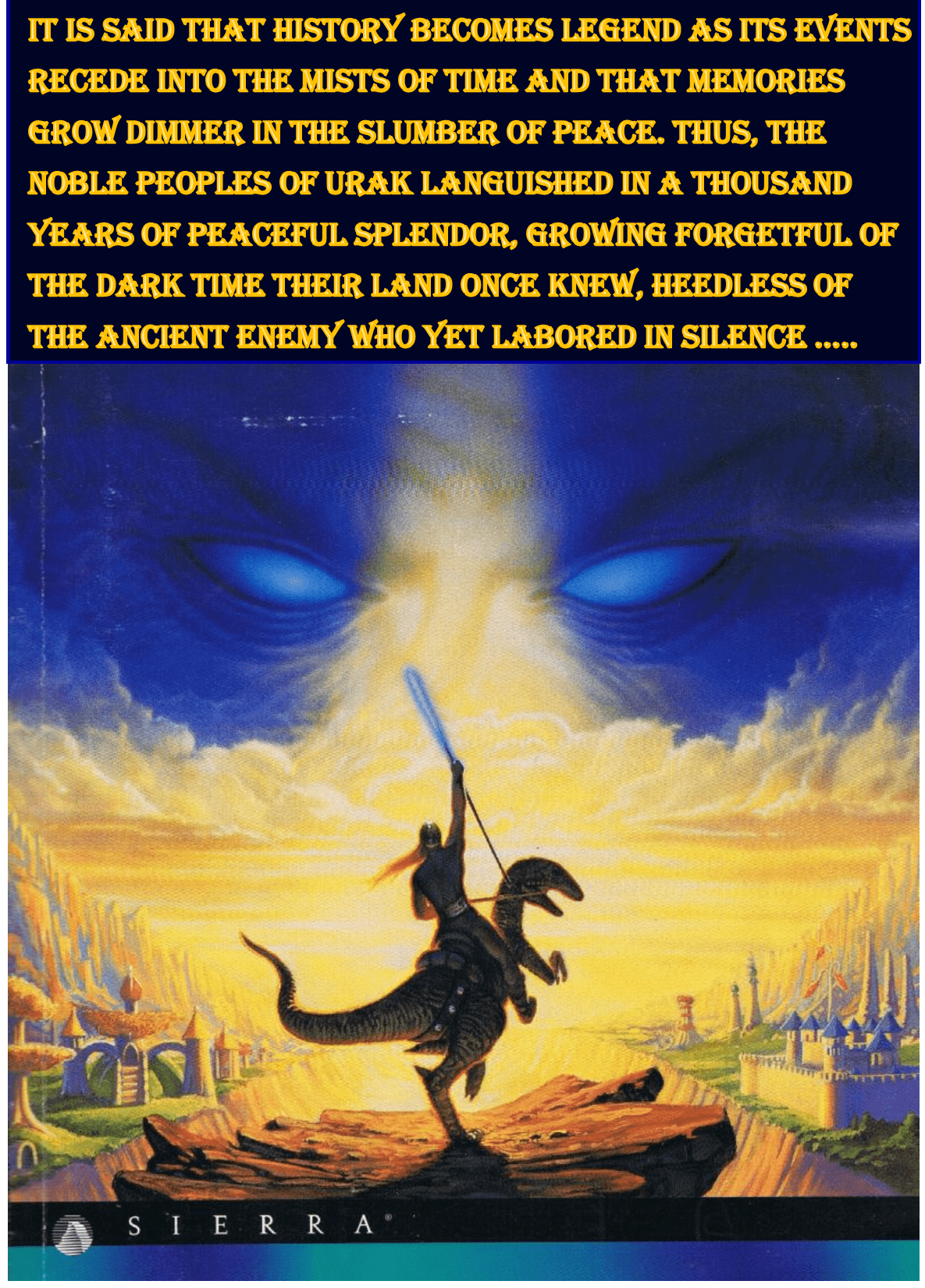 """History becomes Legend as its events recede into the mists of time…."" – Lords of Magic by Sierra Entertainment [1185×1650]"