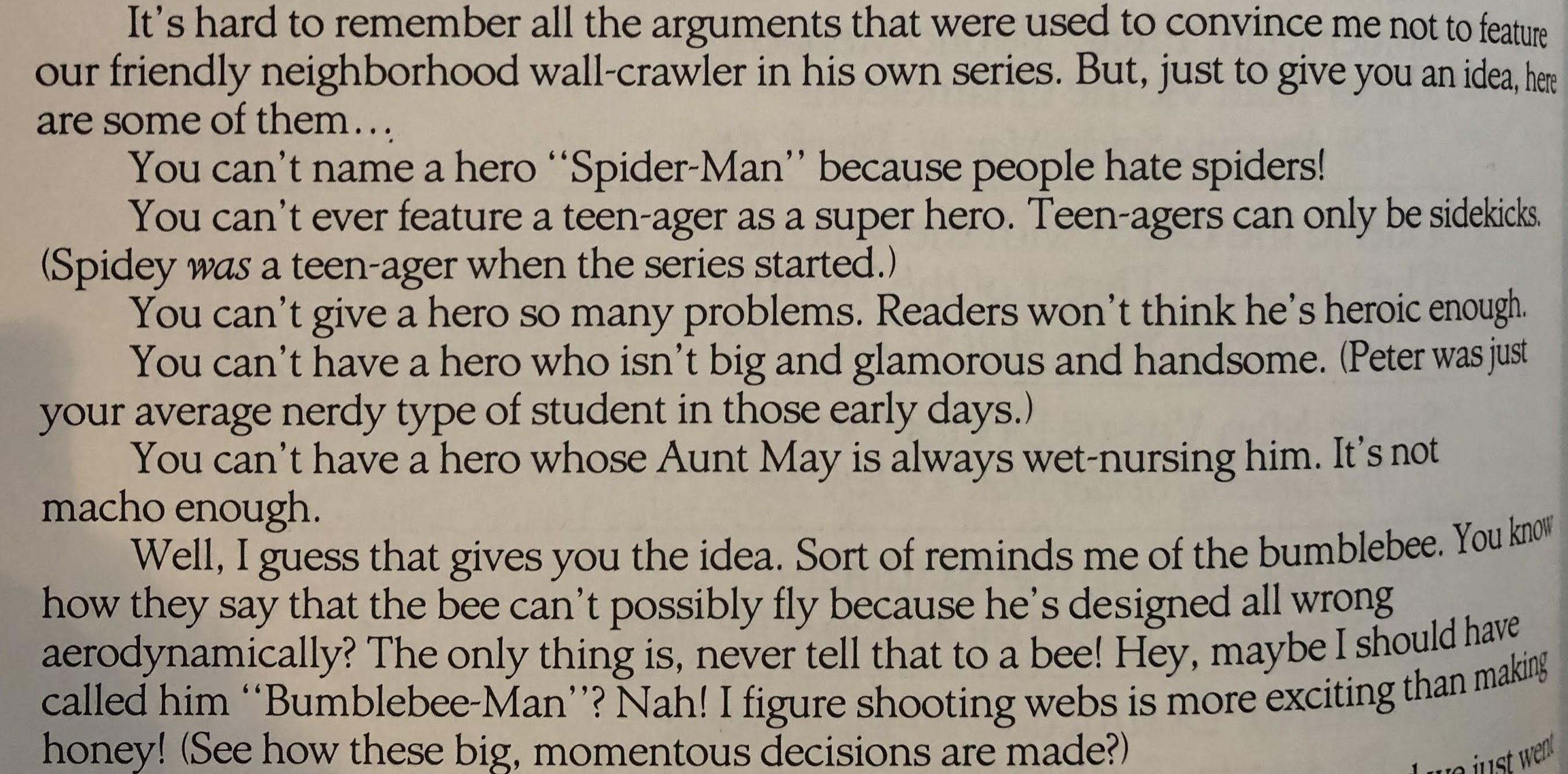 [Image] Stan Lee, On why you should never listen to the voices of doom