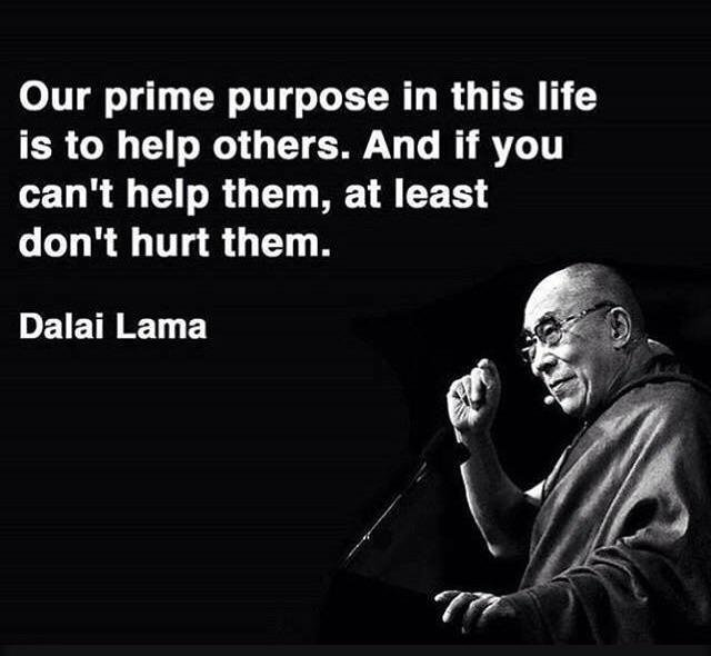 [Image] Our prime purpose in this life is to help others