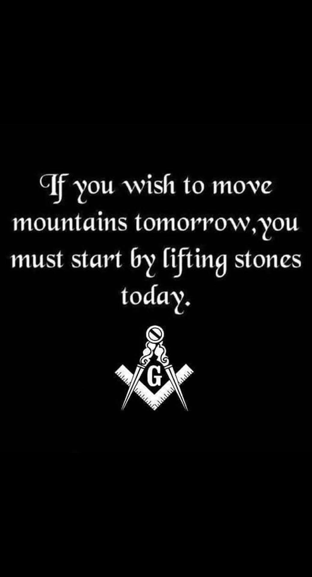 le you wish to move mountains tomorrowyou must start by [ifting stones today. 7% https://inspirational.ly