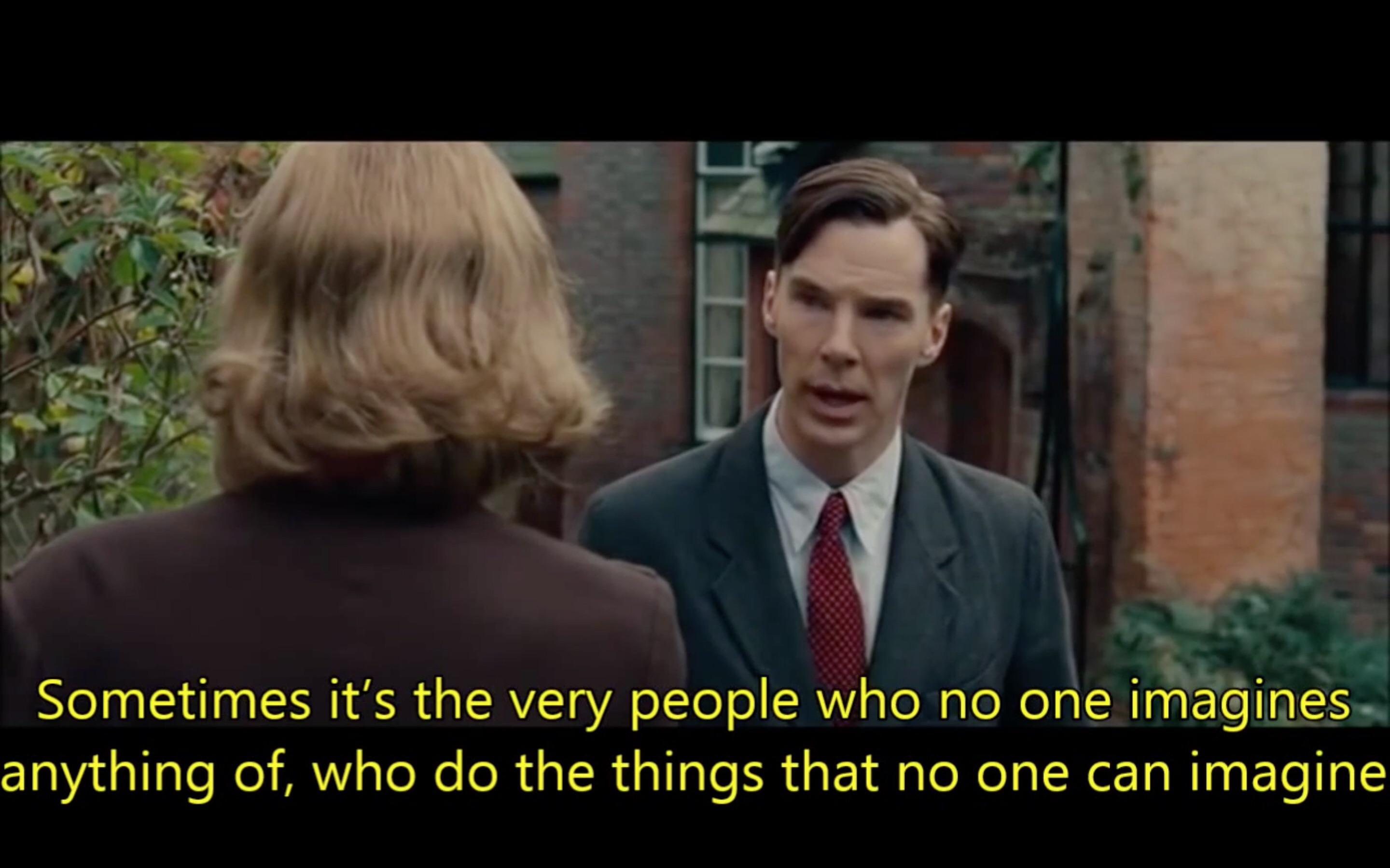 [Image] My favorite quote from The Imitation Game