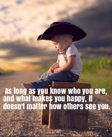 [Image] As long as you know who you are…