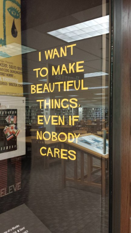 [Image] Even if nobody cares