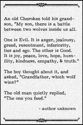 [IMAGE] Remember to feed the Good Wolf