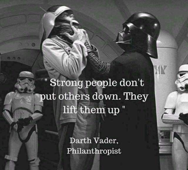 [Image] Strong people don't put others down.