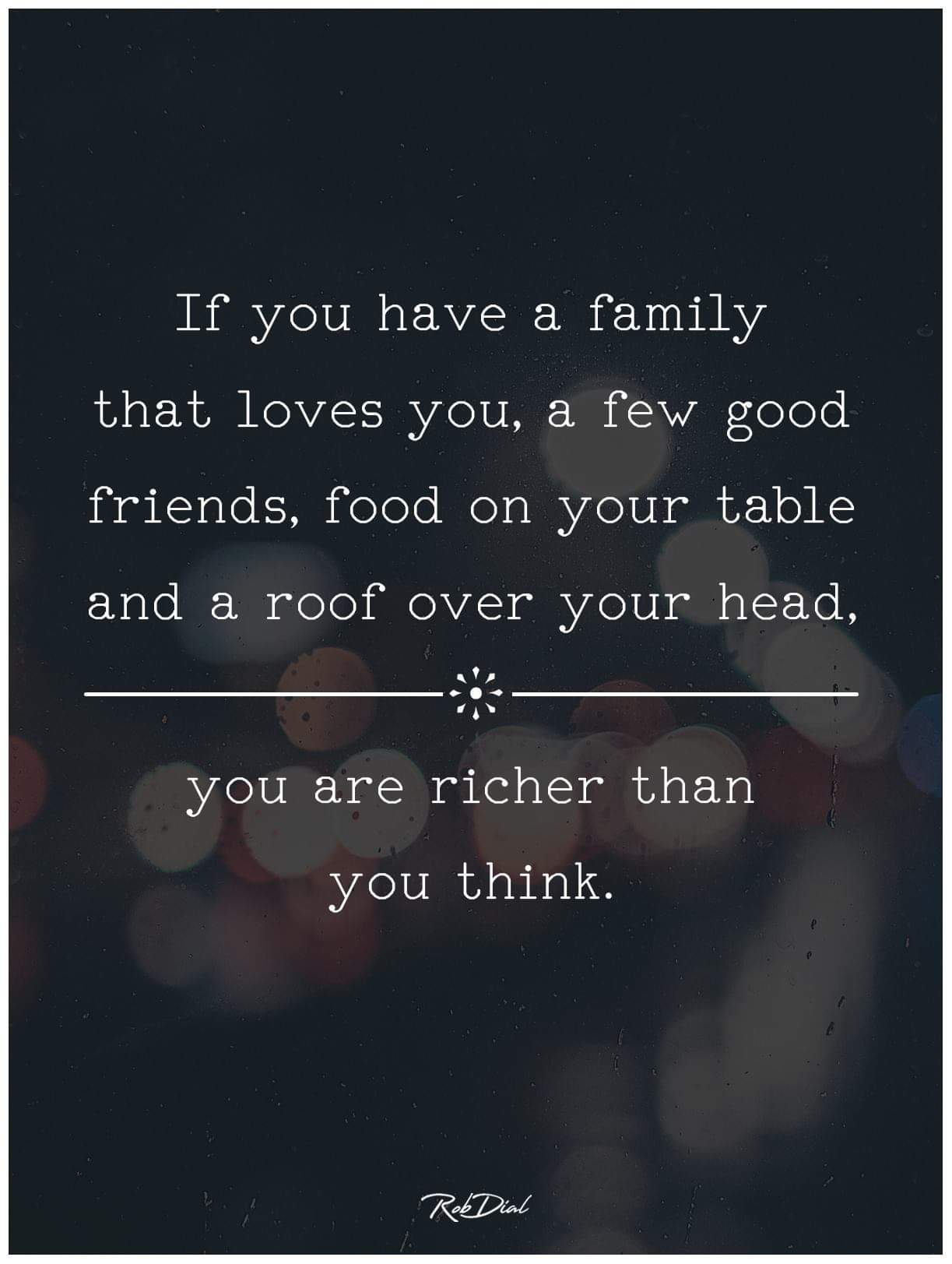 [Image] you are richer than you think