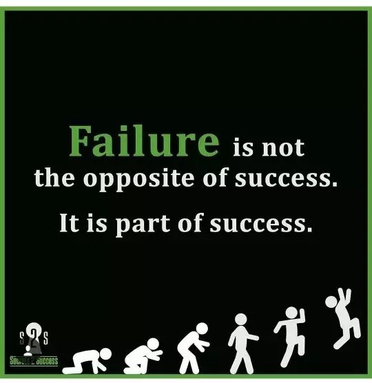 Failure is not the opposite of success. It is part of success. https://inspirational.ly