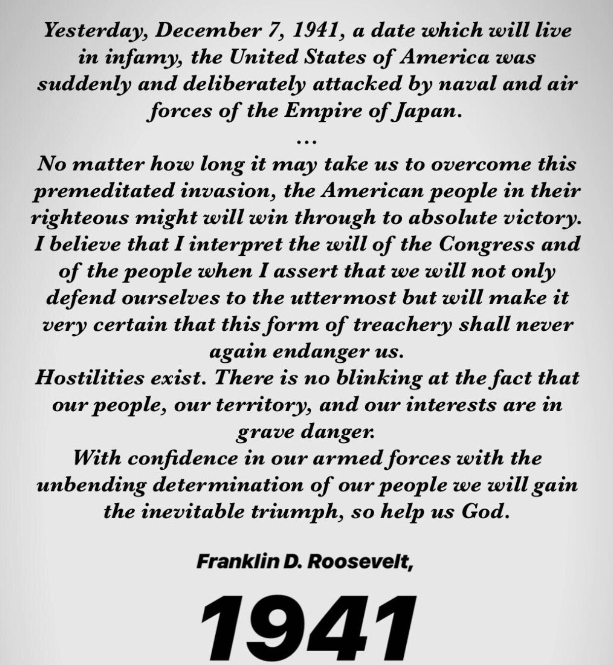 Franklin D. Roosevelt, 1941