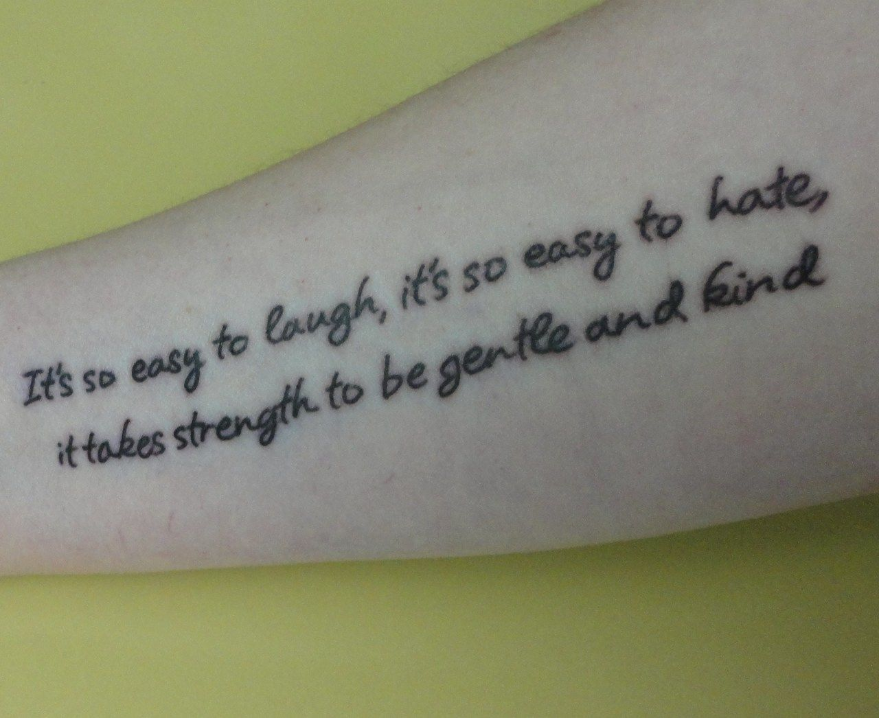 """It's so easy to laugh, it's so easy to hate, it takes strength to be gentle and kind."" – Morrissey [766×626]"