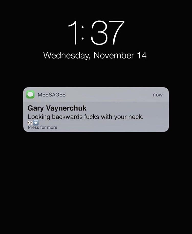 [Image] Wise Words from GaryVee.