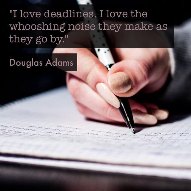 """I love deadlines…"" – Douglas Adams [640×640]"