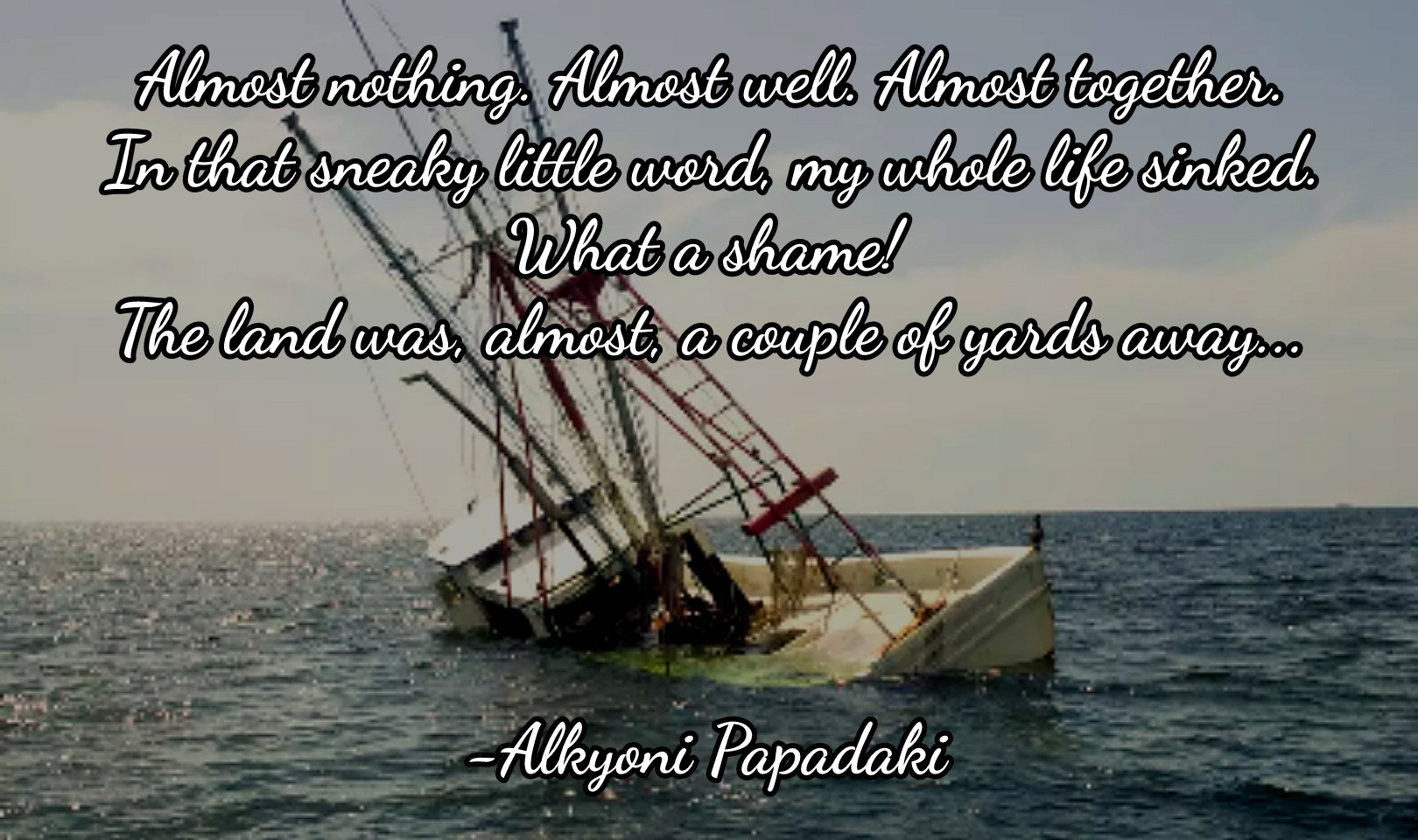 """Almost…"" – Alkyoni Papadaki [1620×960][OC]"