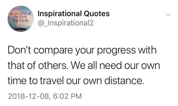 [Image] Don't compare yourself to others