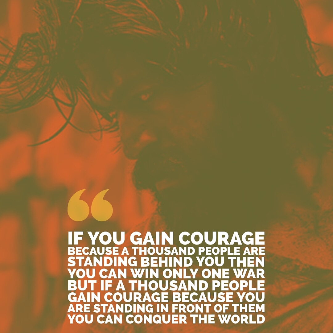[Image] Quote from the Movie 'KGF '