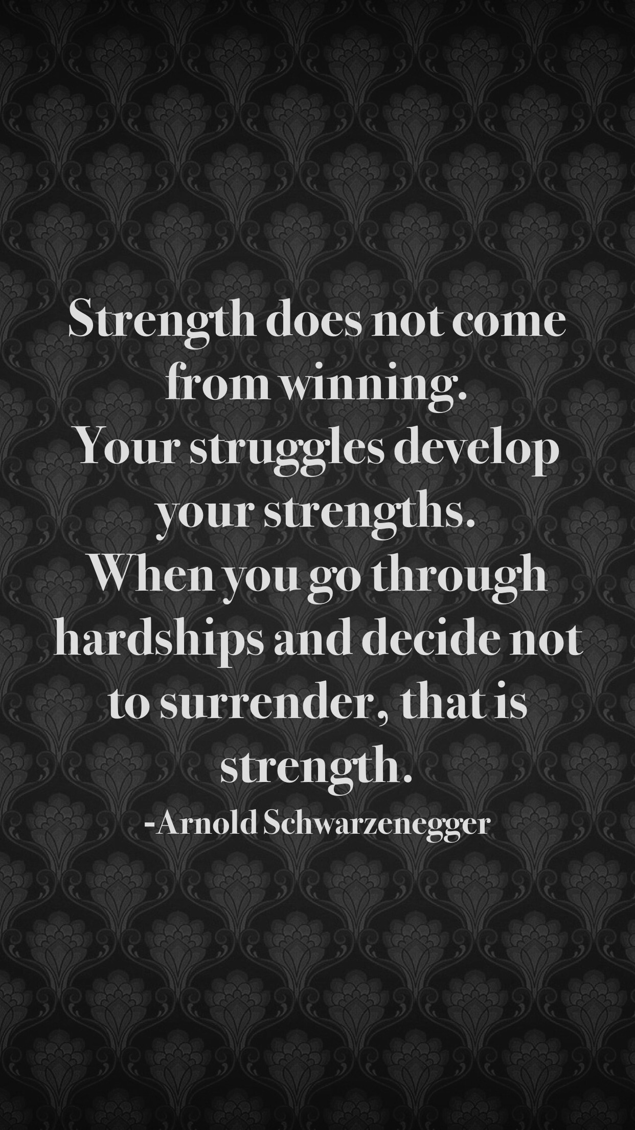 [image] You gain strength from struggle