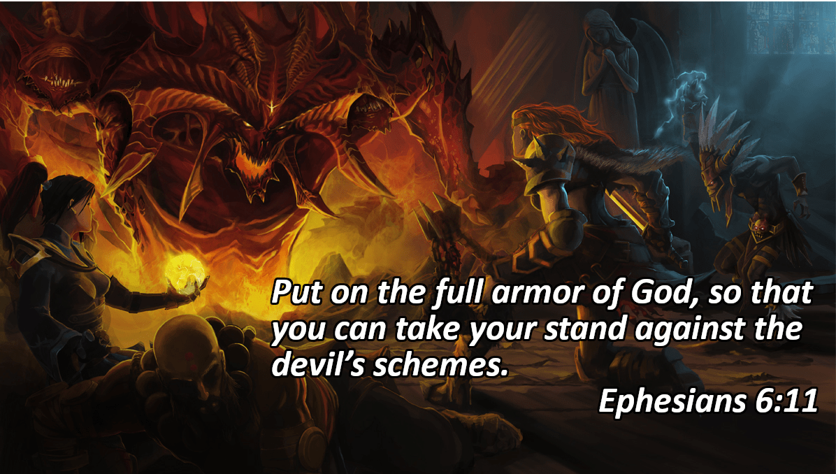 """Put on the full armor of God, so that you can take your stand against the devil's schemes."" – Ephesians 6:11 [1196×678]"
