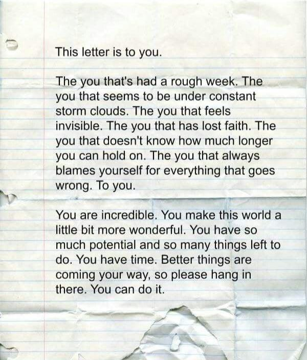 [Image] This letter is to you