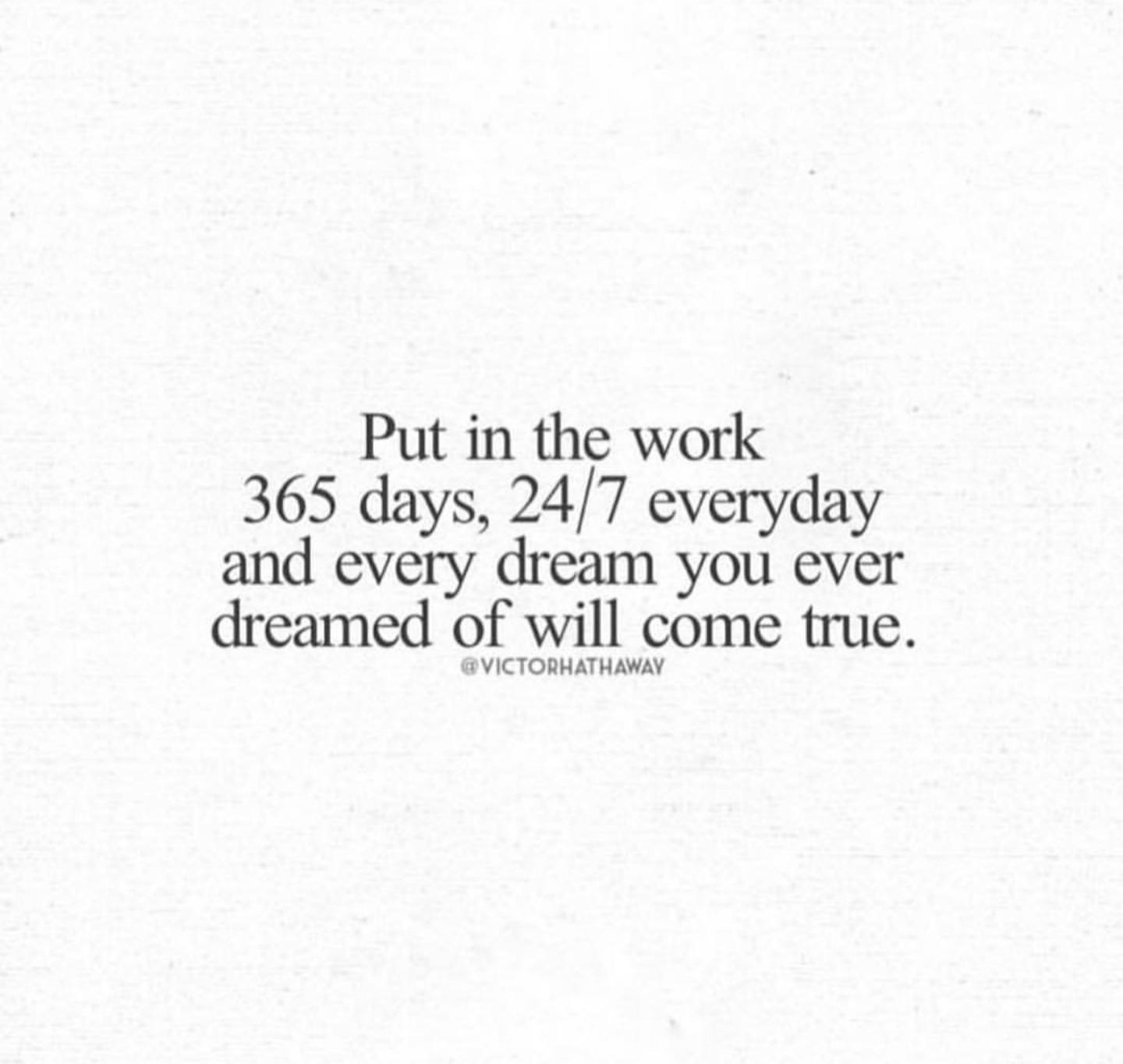 [Image] Put in the work.
