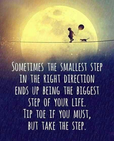 [Image] The Smallest Step.