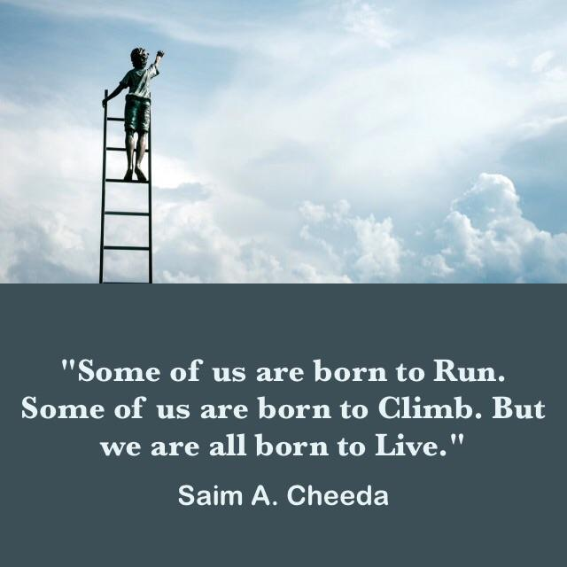 """Some of us are born to run."" – Saim A. Cheeda [640×640]"