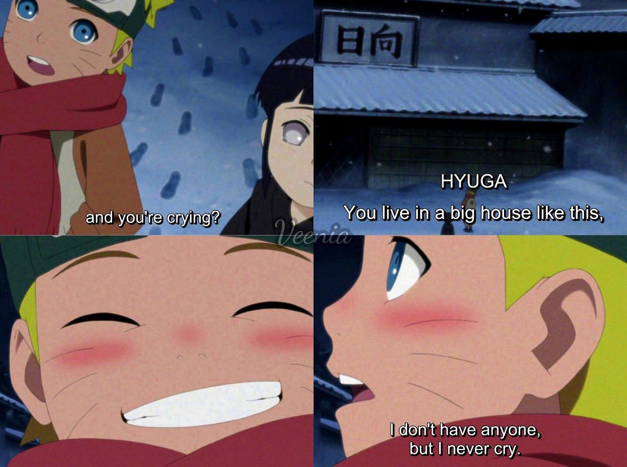 [Image] This scene from Naruto always gets me. It teaches an important lesson on how we are fortunate enough and no matter the difficulties we should always keep smiling and moving forward.
