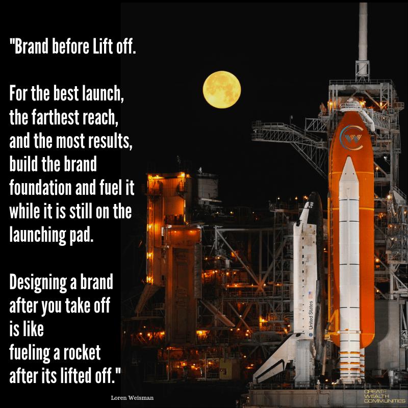 """Brand before liftoff… Loren Weisman [800×800]"