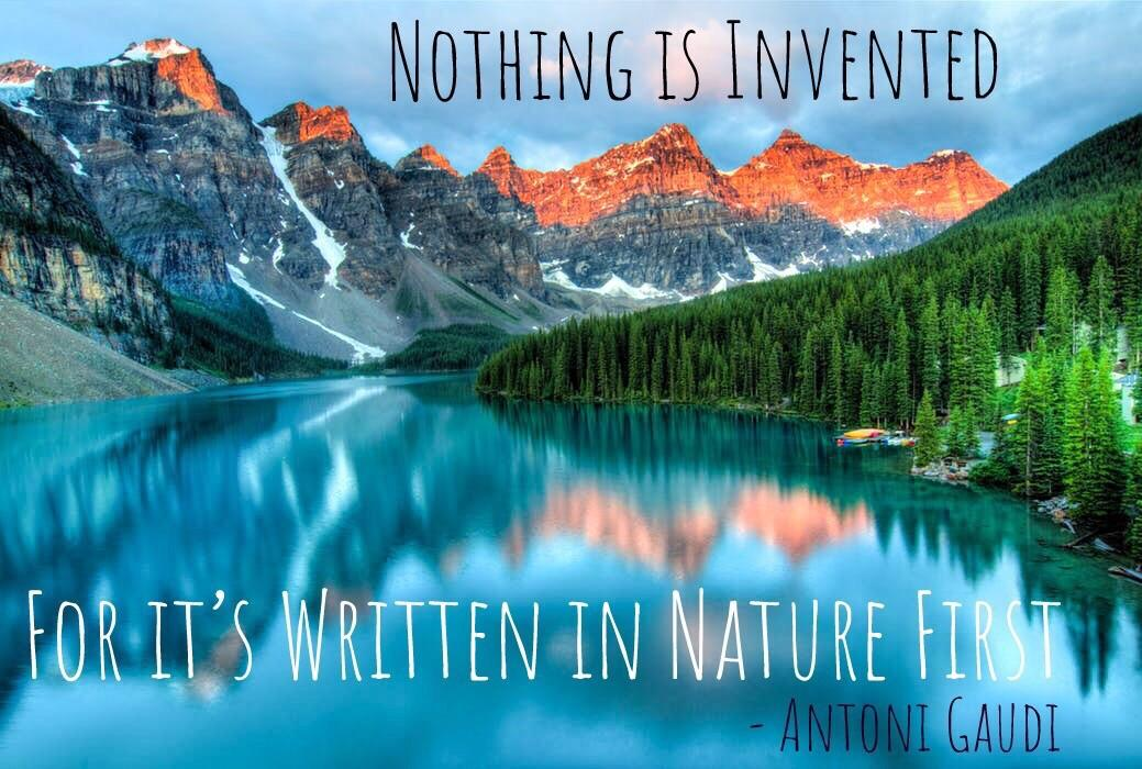 """Nothing is Invented, for it's written in nature first"" – Antoni Gaudi [1039 x 700]"