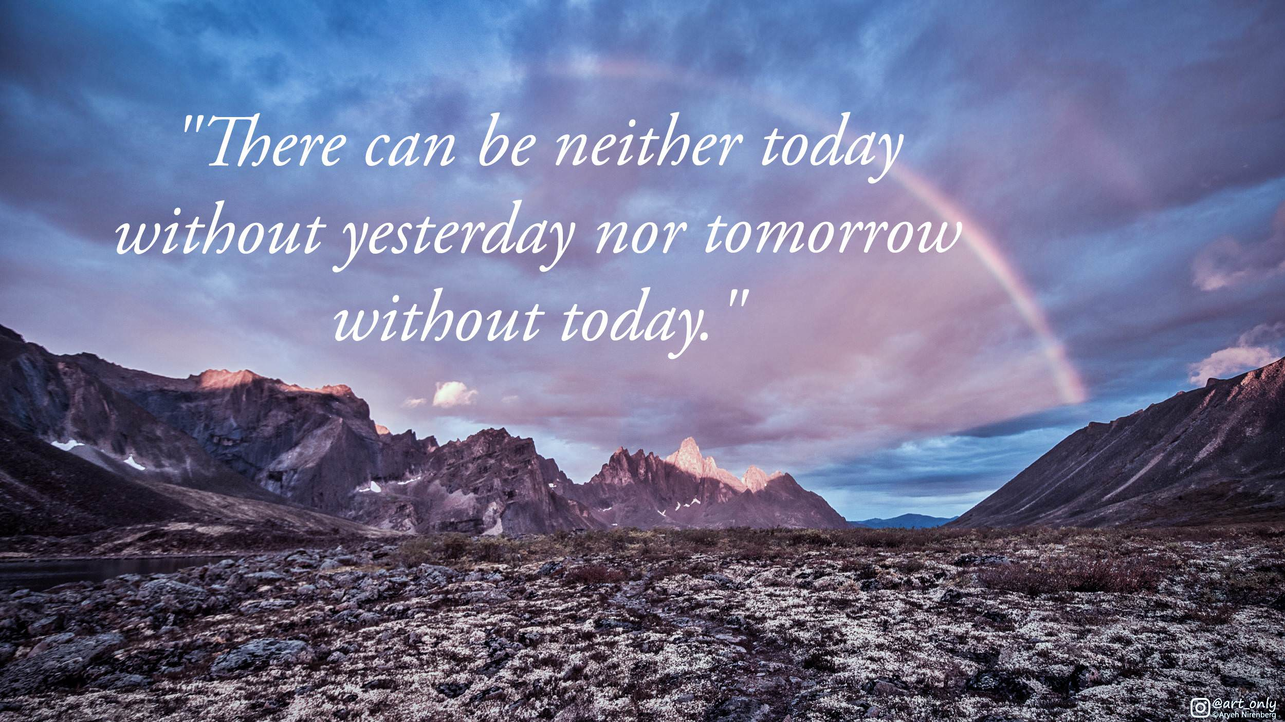 [Image] Always strive to make every day count