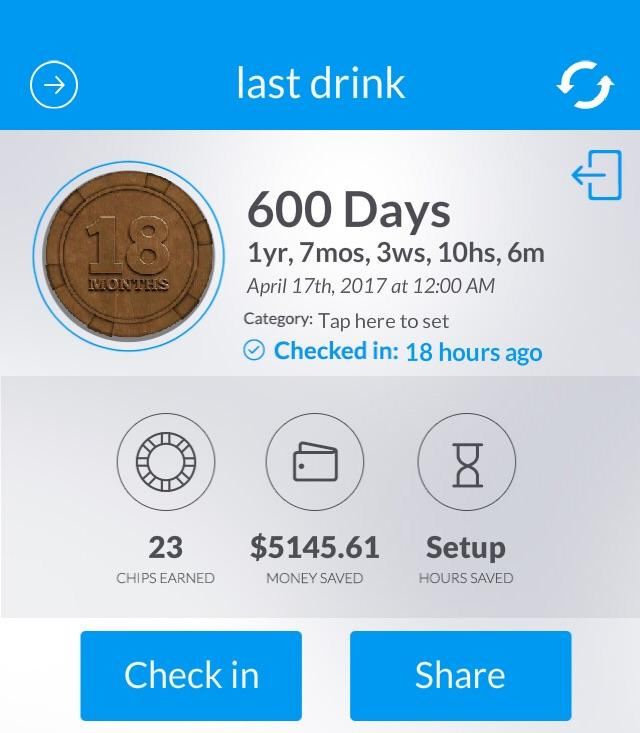 [Image] you guys we helpful on 500 days. Here's another 100 down