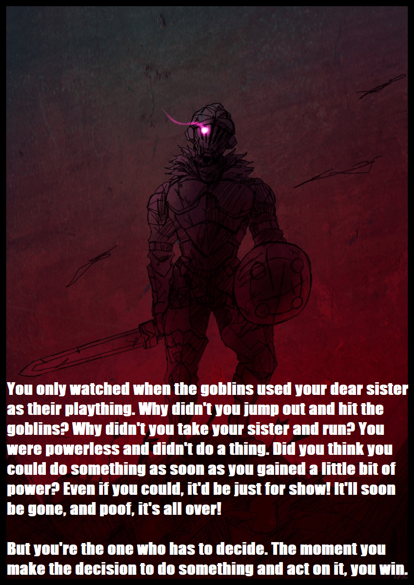 [Image] Goblin Slayer sensei motivational speech