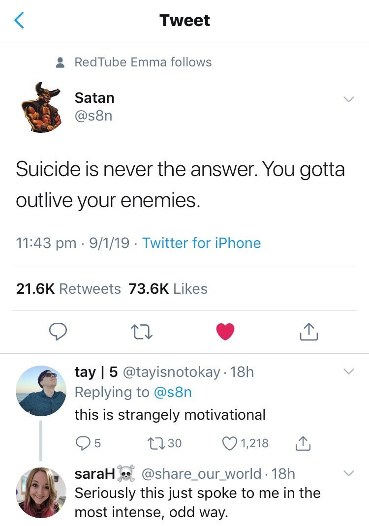 [Image] Satan with the motivation