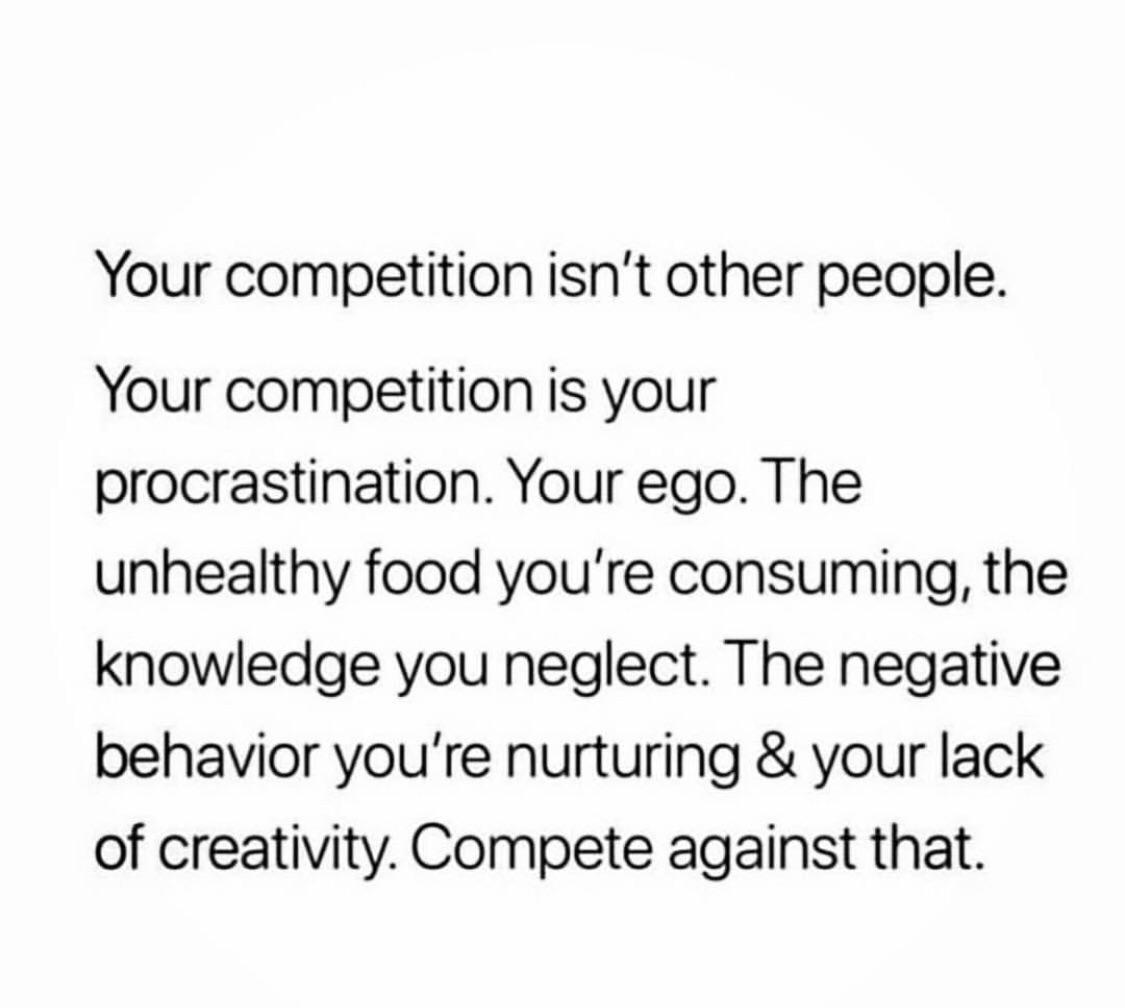 [Image] Concentrate on your own growth.