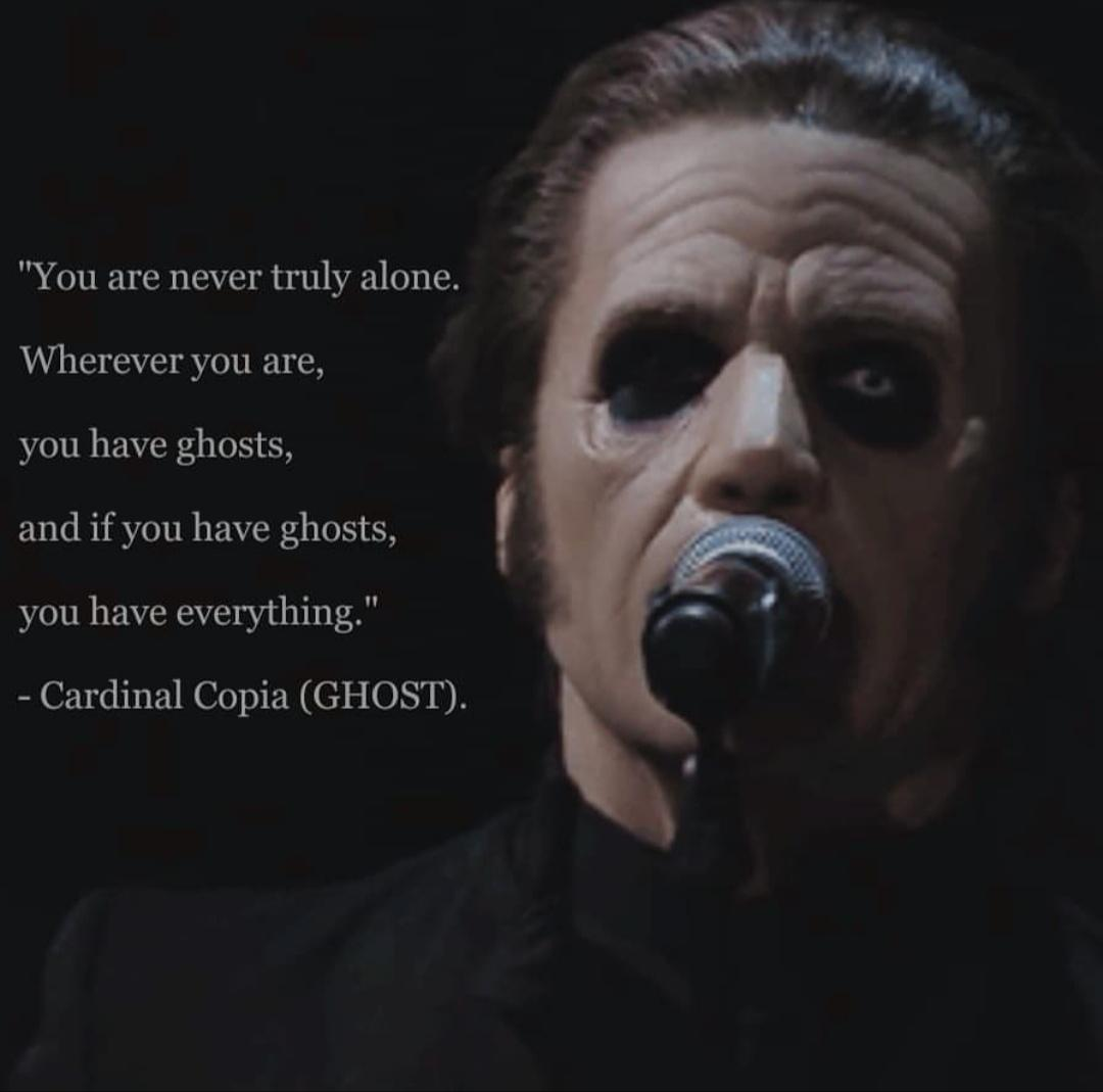 """You are never truly alone…"" – Cardinal Copia (Tobias Forge) [1080×1069]"
