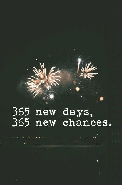 365 néw days, 365 new chances. https://inspirational.ly