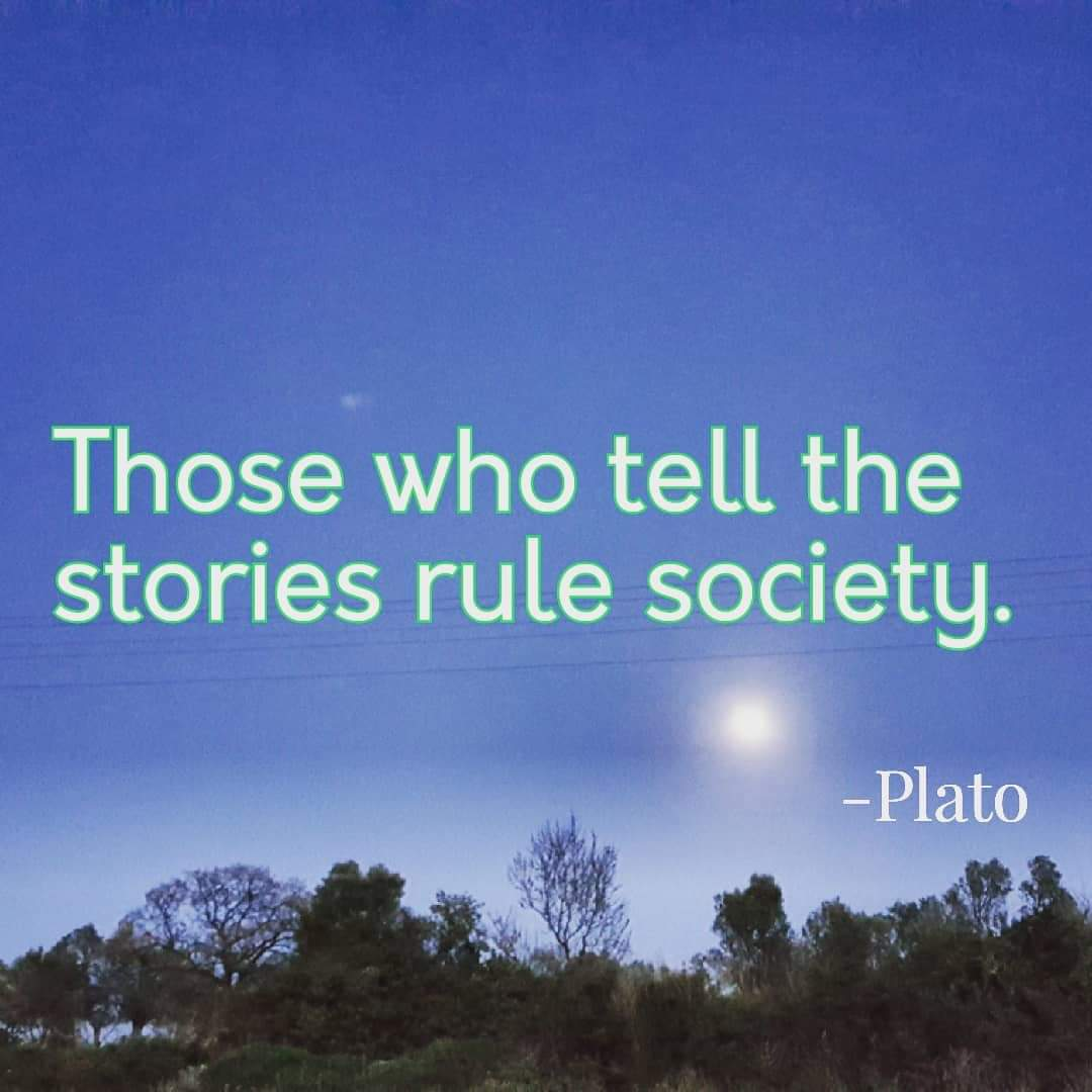 Those who tell the stories rule society. – Plato [1080×1080]
