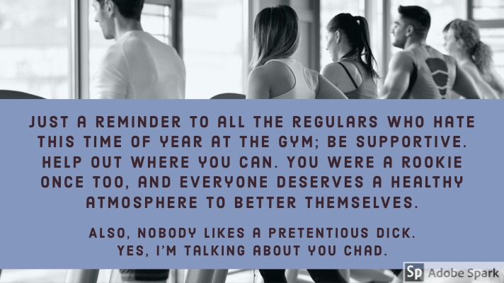 January Gym Rush PSA [Image]