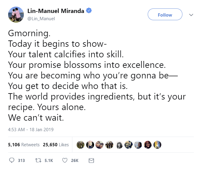 [Image] Lin-Manuel Motivation