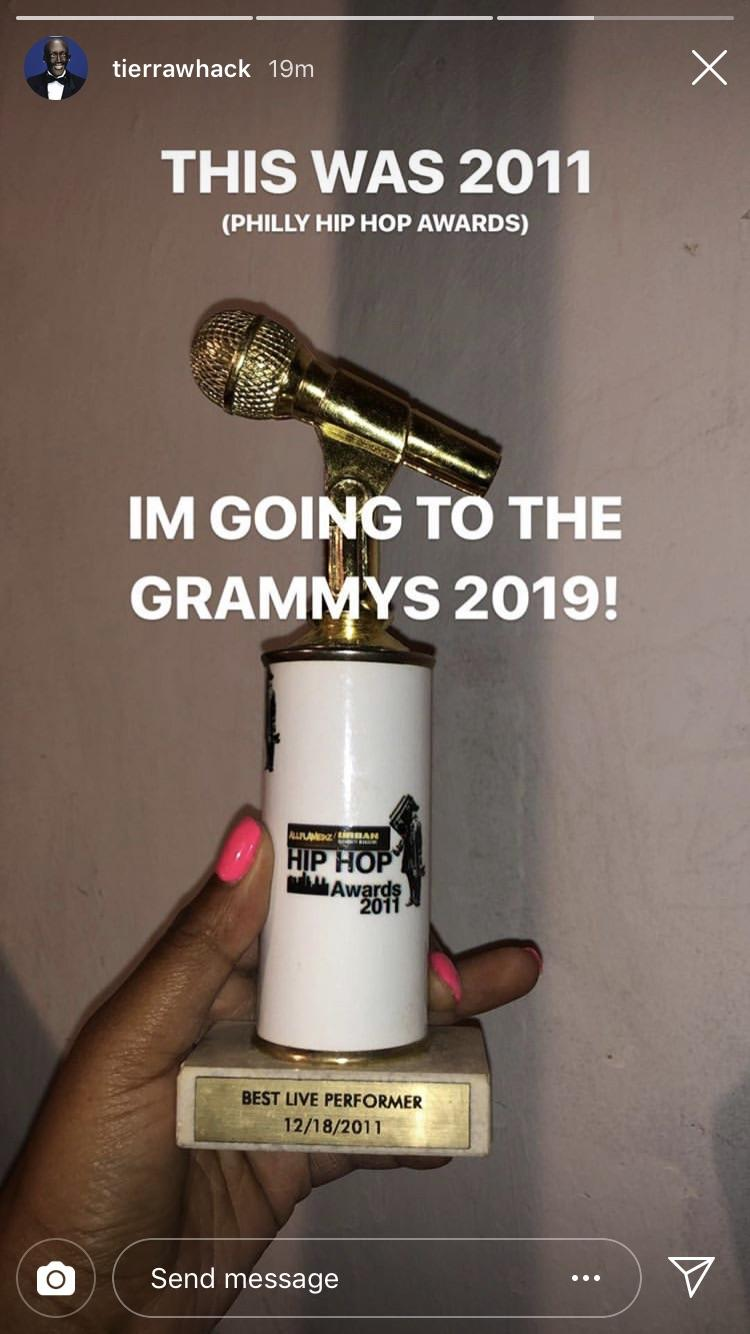 [Image] Tierra Whack, from the Philly Hip Hop Awards to the Grammys