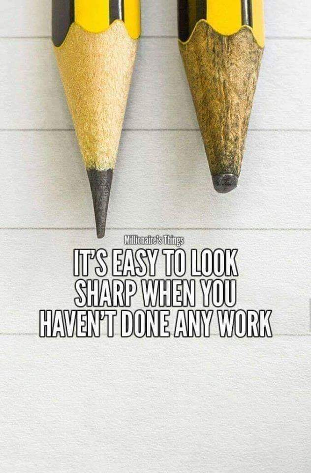 It's easy to look sharp when you haven't done any work. [632×960]