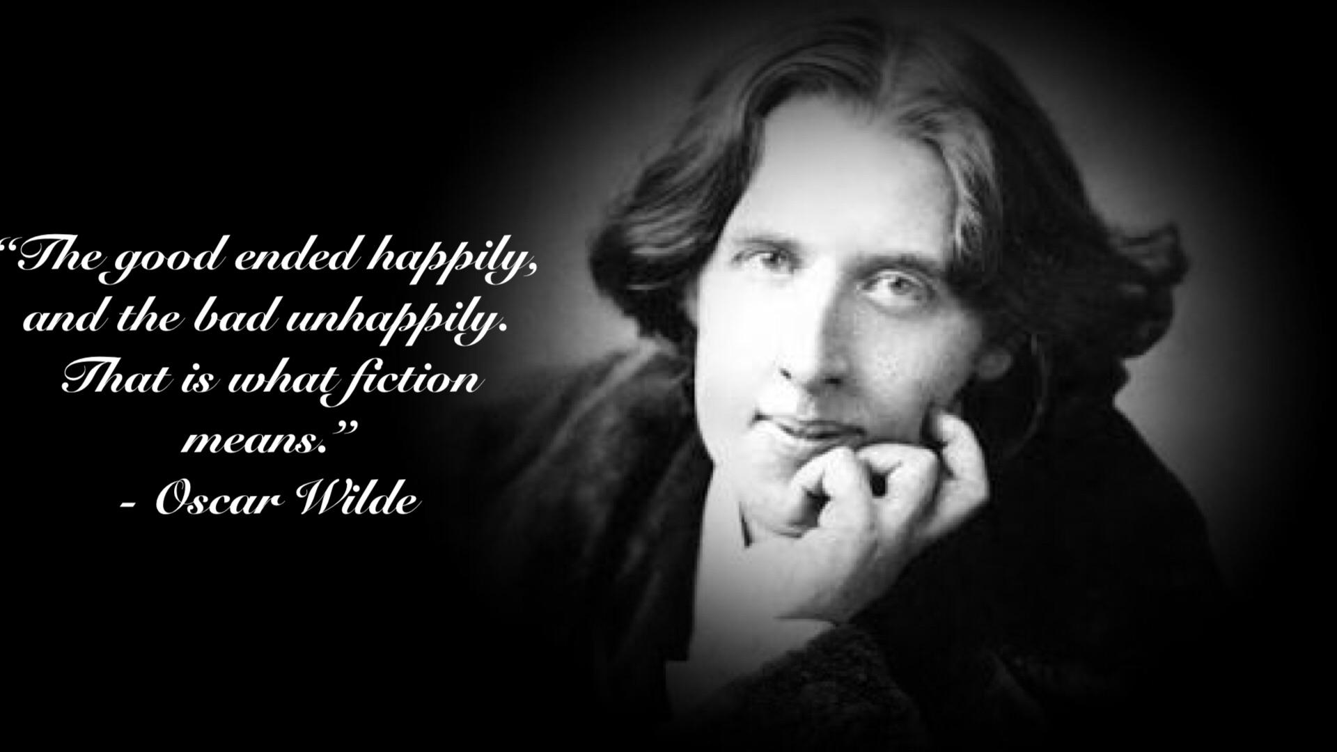 """The good ended happily…"" – Oscar Wilde [1920×1080]"