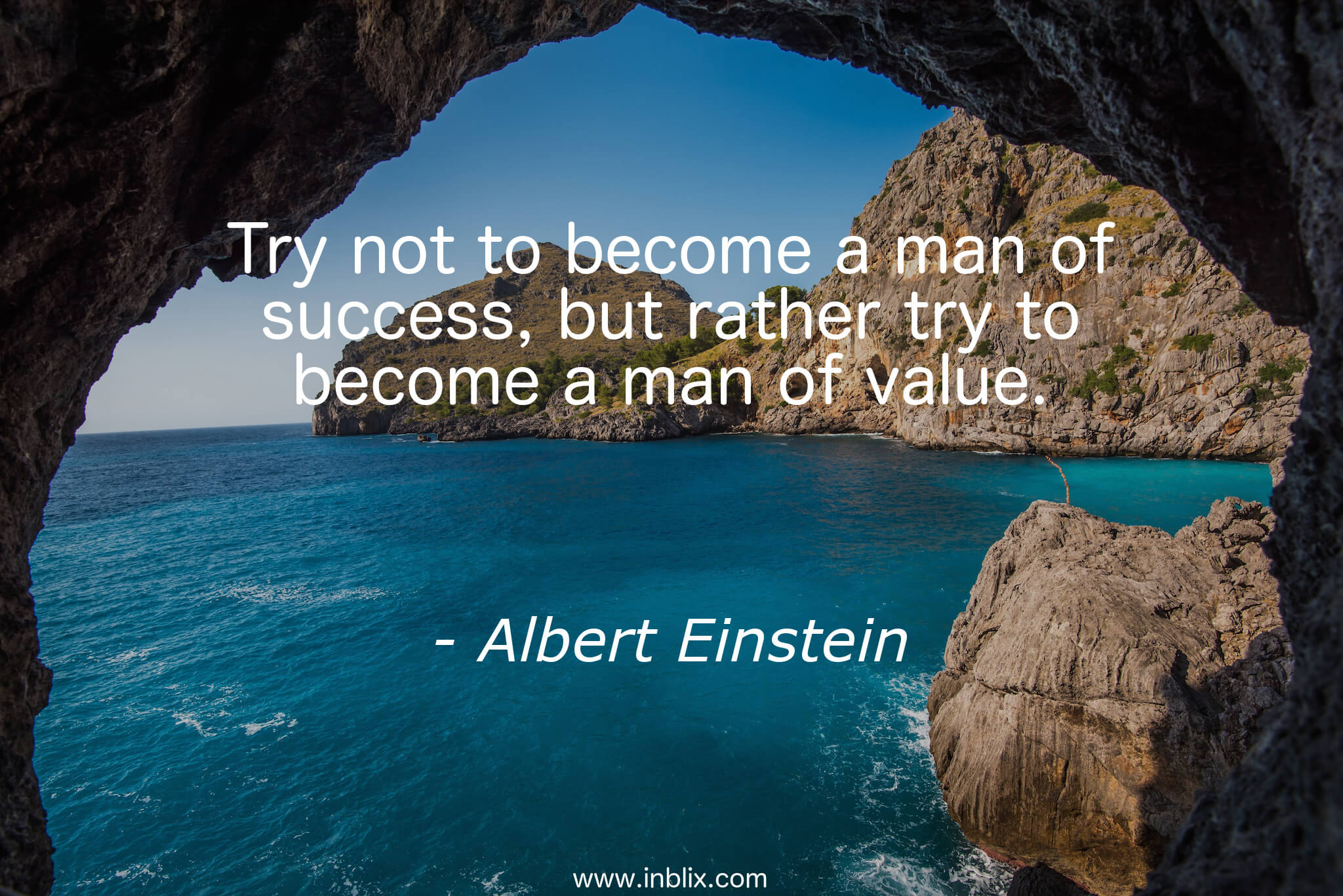 """Try not to become a man of success, but rather try to become a man of value.""-Albert Einstein [2048×1367]"