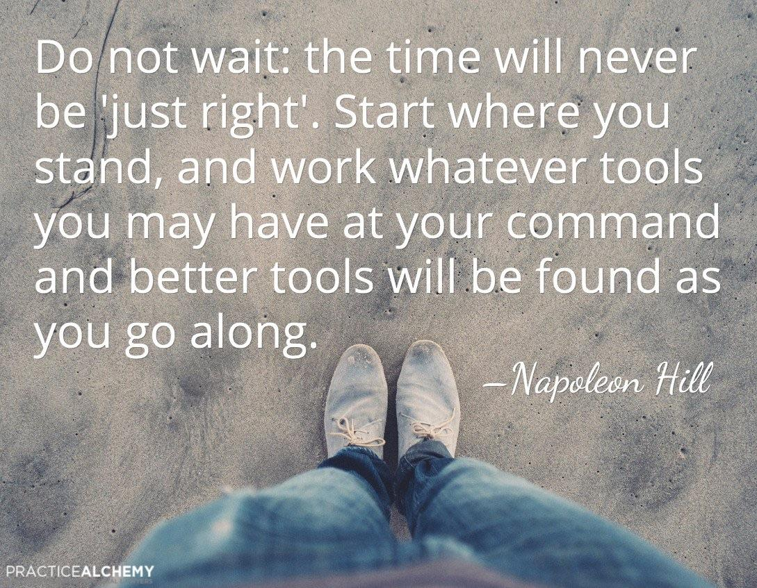 [image] Start where you stand and go