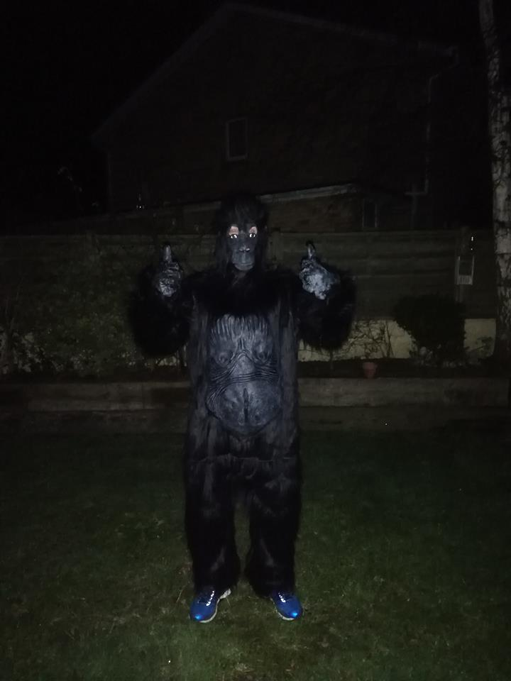 [Image] 1st run of the year in a gorilla suit as training for Jersey Marathon 2019 – Please see comments for details
