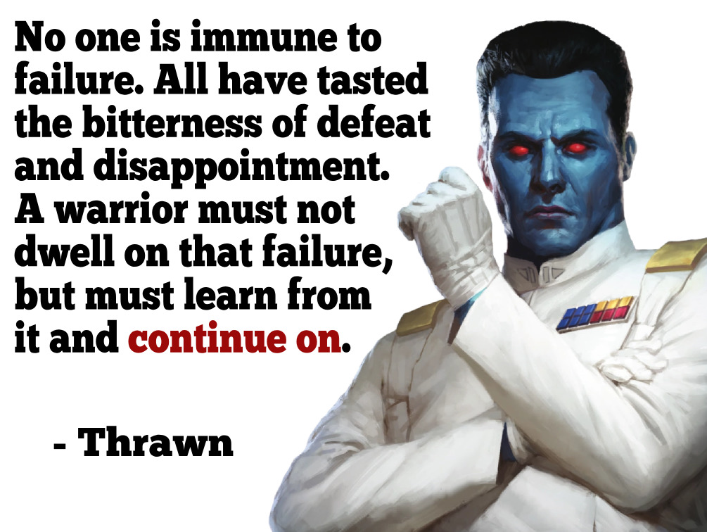 [Image] Everyone knows defeat like a friend.